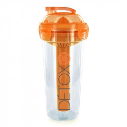 Grossiste. Gourde detox 3 en 1 orange