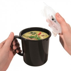 Grossiste. Bol à soupe spécial transport de  63 cl noir.
