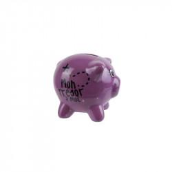 Grossiste. Tirelire cochon violette.
