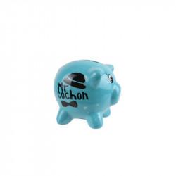Grossiste. Tirelire cochon bleue.