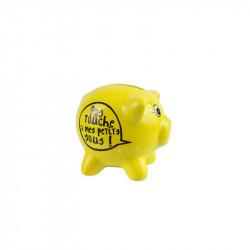 Grossiste. Tirelire cochon jaune.