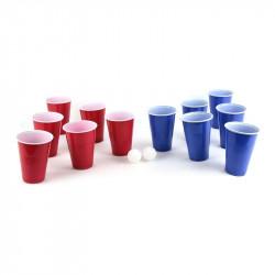 Grossiste. Jeu à boire beer pong  - 2 balles de Ping-Pong et 12 gobelets