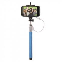 Grossiste. Perche à selfie avec jack 3.5 mm bleue