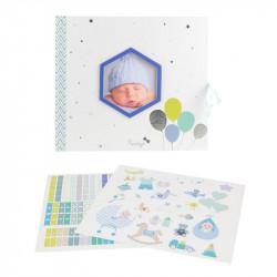 Grossiste. Livre de naissance personnalisable bleu
