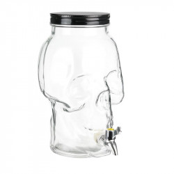 Skull face Mason jar glass...