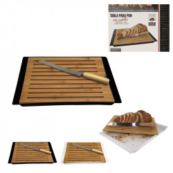 Bread board and knife
