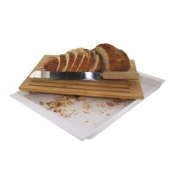 Grossiste. Planche à pain blanche et son couteau