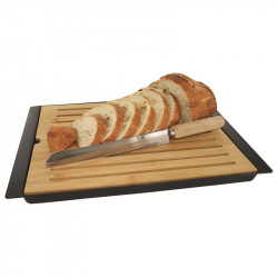 Grossiste. Planche à pain noire et son couteau