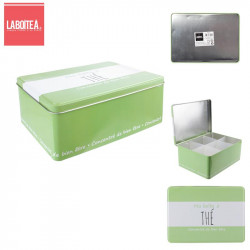 Tea metal tin box container