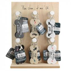 Grossiste. Porte-clés en bois en forme d'os pour chien