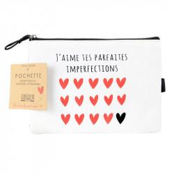 Heart pattern makeup pouch