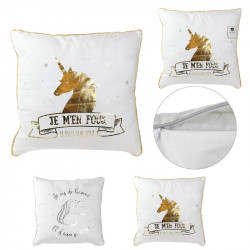 Unicorn throw pillow 16x16""