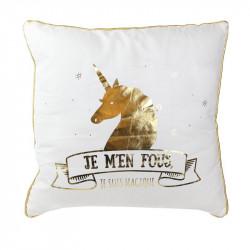 Grossiste. Coussin spécial licorne 40 x 40 cm doré