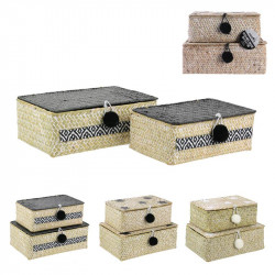 Seagrass storage box with...