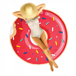 Donut shape beach towel -...