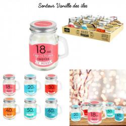 Birthday jar candle