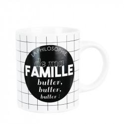 Grossiste. Mug spécial famille blanc et noir