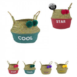 Seagrass belly basket with...