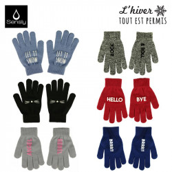 Women's winter gloves with...