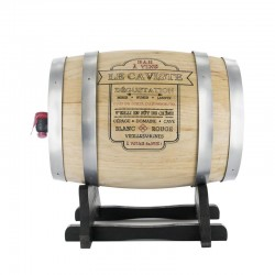Grossiste et fournisseur. Distributeur à vin tonneau 5 L gris