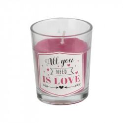 Grossiste. Bougie amour parfumée rose senteur vanille