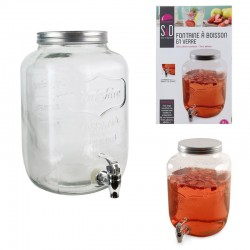 Grossiste et fournisseur. Fontaine à boisson en verre 8 L
