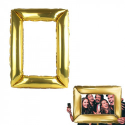 Inflatable photo frame