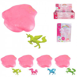 Pink glutineous putty with...