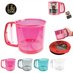 Hand-held cup flour sifter