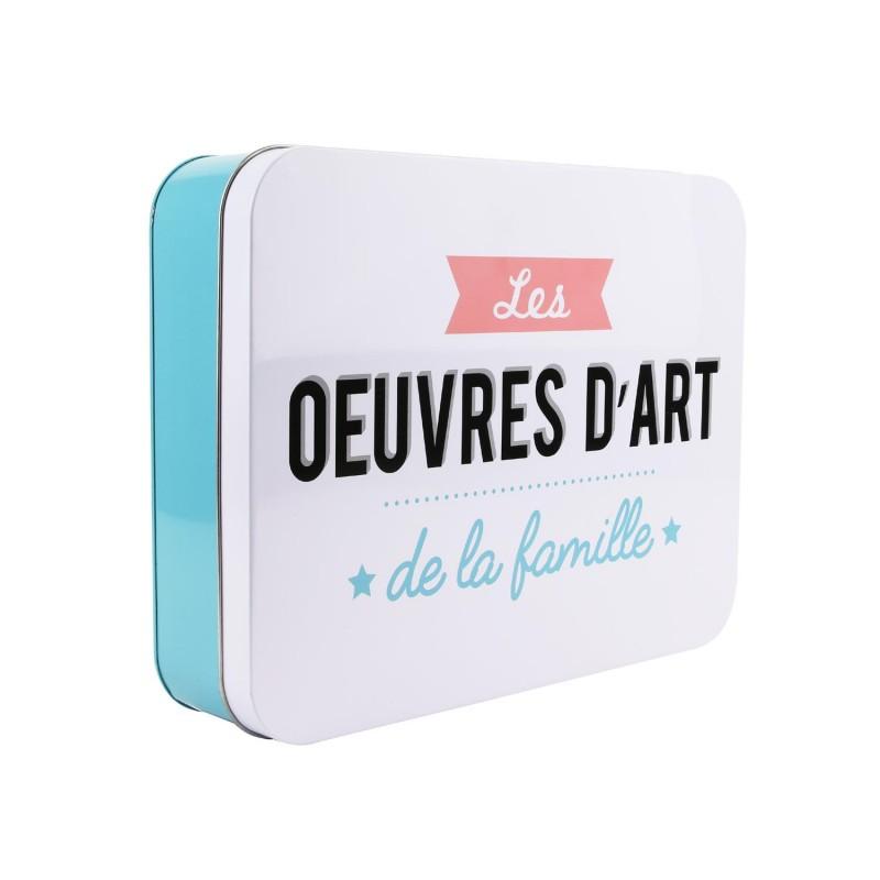 """Grossiste Boîte en métal """"Les Oeuvres d'Art"""""""