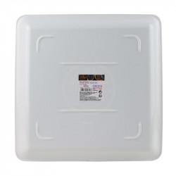 Grossiste. Plateau carré Barista sélection 30 x 30 cm blanc