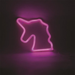 Neon unicorn sign night light