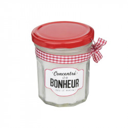 Grossiste. Bougie parfumée au design pot de confiture blanc