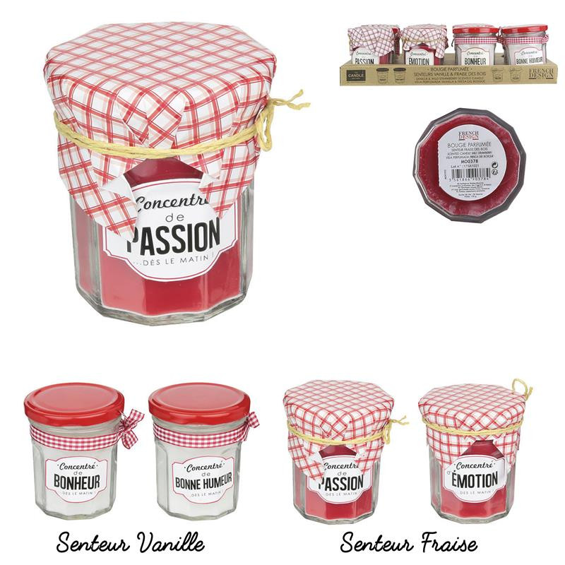 Grossiste. Bougie parfumée au design pot de confiture