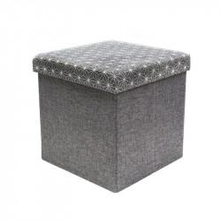 Grey storage ottoman...