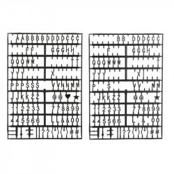 Grossiste. Tableau à messages noir avec 294 lettres et symboles