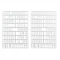 Grossiste. Tableau à messages blanc avec 294 lettres et symboles