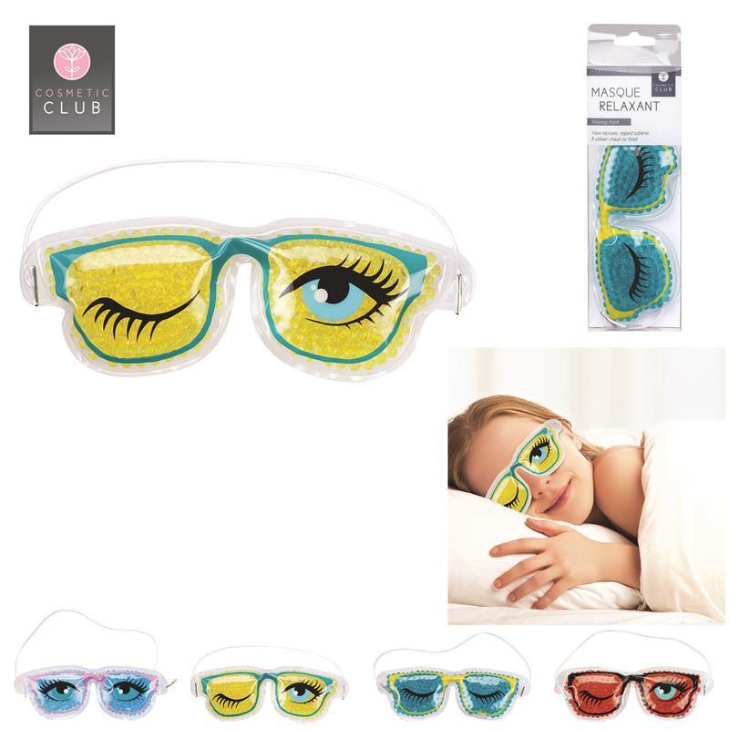 Grossiste. Masque relaxant pour yeux modèle « lunettes fun »