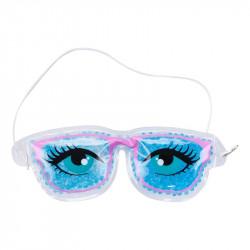Grossiste. Masque relaxant pour yeux modèle « lunettes fun » bleu