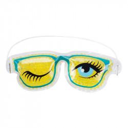 Grossiste. Masque relaxant pour yeux modèle « lunettes fun » jaune