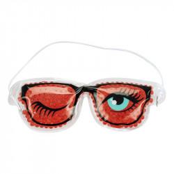 Grossiste. Masque relaxant pour yeux modèle « lunettes fun » rouge