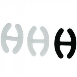 Grossiste. Accroche-brettelles noire pour soutien-gorge x 6