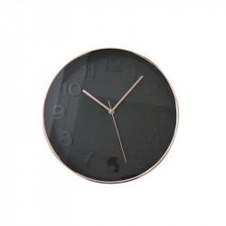 Grossiste et fournisseur. Horloge ronde 30.5 cm noire cuivrée