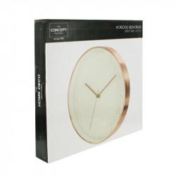 Grossiste et fournisseur. Horloge ronde 30.5 cm blanche cuivrée