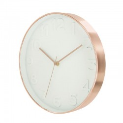White copper modern wall clock