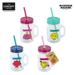 Mason jar mug with handle -...
