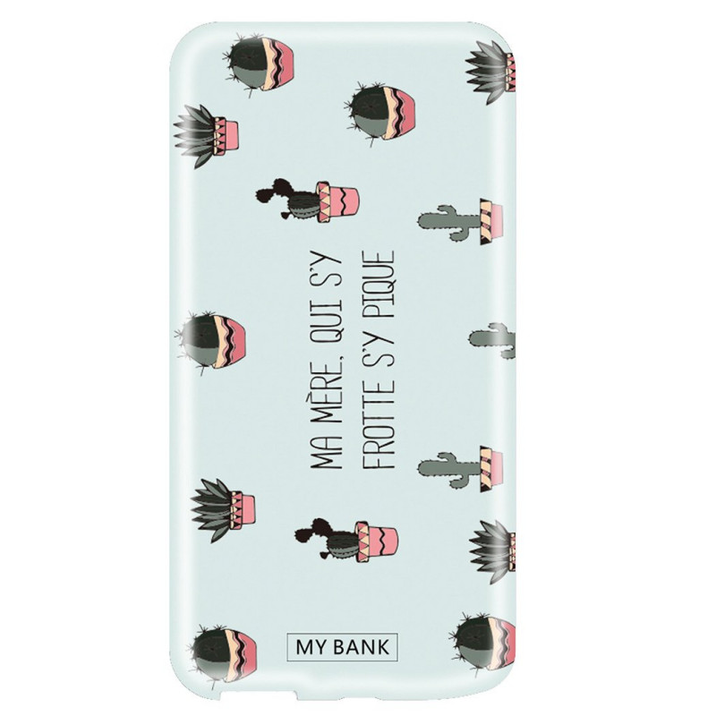Grossiste. MYBANK Powerbank batterie externe puissance 2600mAh à motifs Cactus - Bleu
