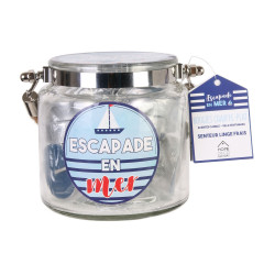 Grossiste bougie chauffe-plat x 18 avec pot avec anse bleu clair