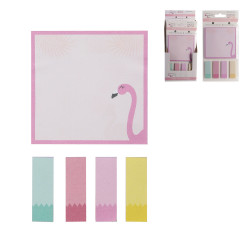 Grossiste notes repositionnables style flamant rose