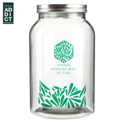 'Natural life' glass jar...